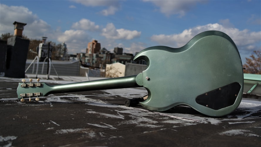2006 Gibson SG Protocaster Makeover Charcoal frost Metallic, Excellent, Soft, $1,425.00