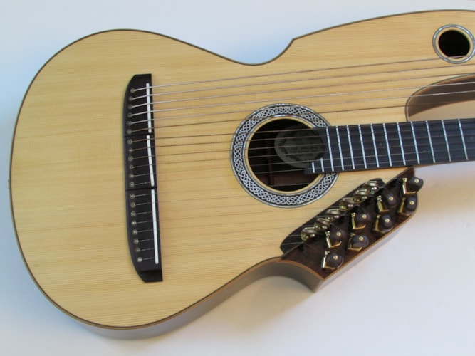 2006 Milburn Harp Guitar Custom  Natural, Excellent, Original Hard, Call For Price!