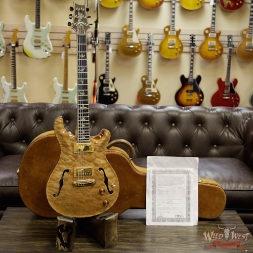 2006 Paul Reed Smith - Private Stock 2006 PRS Private Stock #931 Hollowbody II HB 2 1-Piece Quilt Maple Top and Back Flame Neck Brazilian Rosewood Board Natural Natural, Near Mint