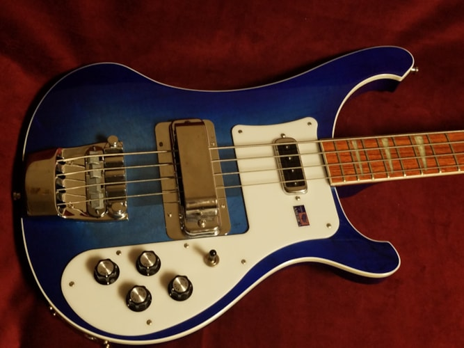 2006 Rickenbacker 4003 Bass Blue Burst, Excellent, $1,699.00