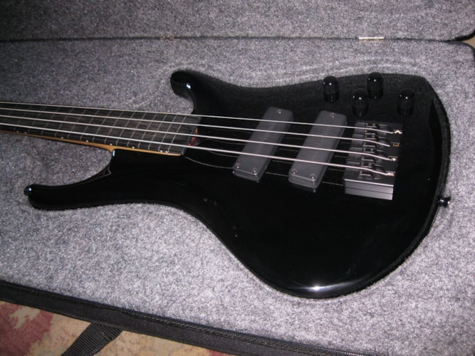 2006 Roscoe LG3000 Fretless  Black, Near Mint, Original Hard, $1,699.00