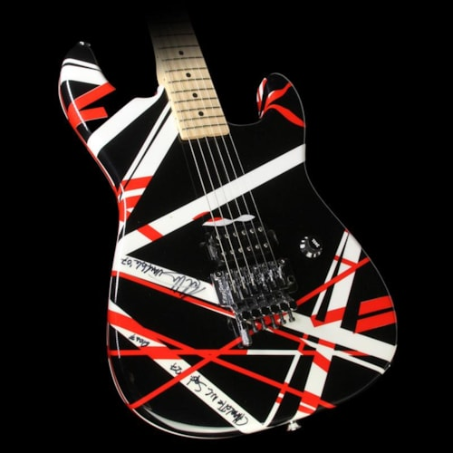 2007 Charvel Used 2007 Charvel EVH Art Series Electric Guitar Red, Black & White