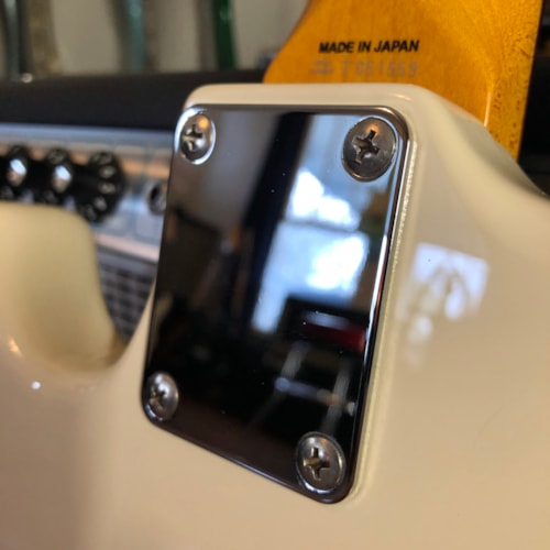 2007 Fender Mustang Bass, Made in Japan, Olympic White