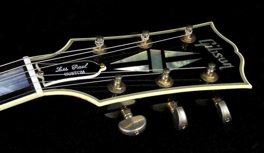 2007 Gibson Custom Shop Used 2007 Gibson Custom Shop 1957 Les Paul Custom Reissue Electric Guitar Ebony