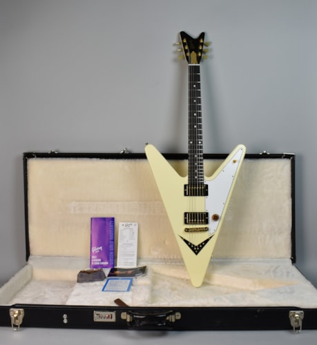 2007 Gibson Reverse Flying V White, Brand New, Original Hard, $1,595.00