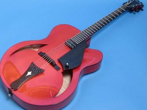 """2007 Marchione 17"""" Archtop Trans Red, Brand New, Original Hard"""