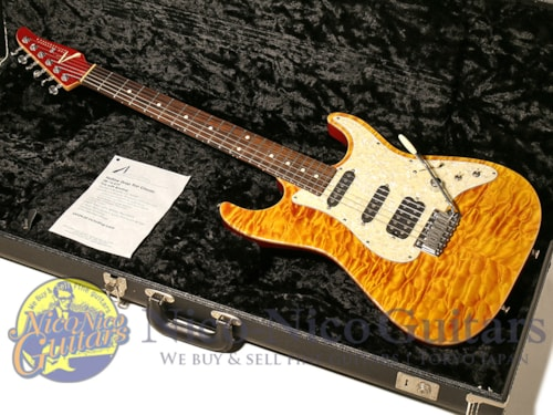 2007 Tom Anderson Hollow Drop Top Classic QMT Fire with Binding
