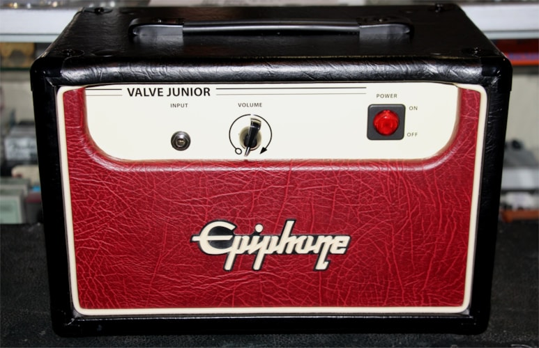 2008 Epiphone Valve Junior Black & Red, Mint, $164.95