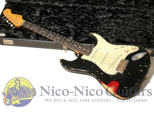 2008 Fender Custom Shop Masterbuilt '60 Stratocaster Heavy Relic by Jason Smith Black/Candy Apple Re