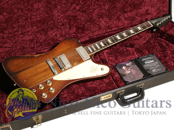 2008 Gibson Custom Shop Inspired by Series Johnny Winter Firebird V Signed Aged #100 Sunburst, Excellent, Original Hard