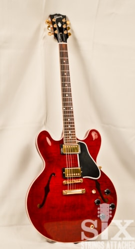 2008 Gibson ES-335 Custom Shop, ESDTWRGH1 Wine Red - Gold Hardware, Near Mint, Original Hard, $2,800.00