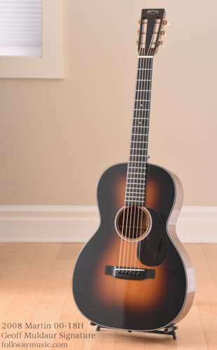 2008 Martin 00-18H Geoff Muldaur Signature Excellent, Original Hard, $2,589.00