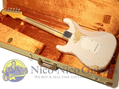 2009 Fender Custom Shop Teambuilt 1957 Stratocaster Heavy Relic White Blonde