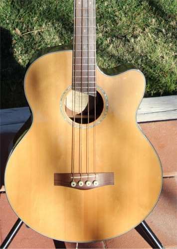 Fender Clearance Sale - New Old Stock Fender GB-41SCE Acoustic/Electric Bass Natural