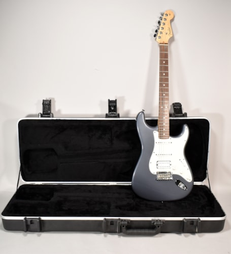 2009 Fender Standard Stratocaster Charcoal Frost Metallic Finish Electric Guitar w/OHSC