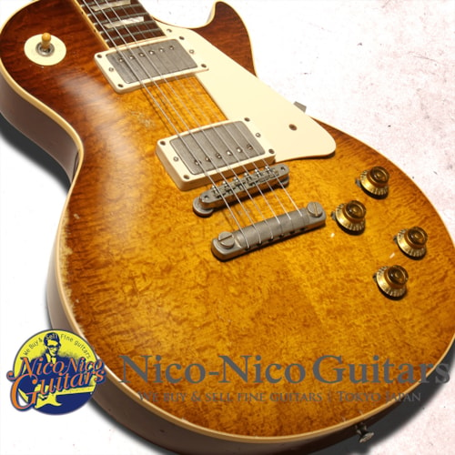 """2009 Gibson Custom Shop Billy Gibbons """"Pearly Gates"""" Les Paul Standard Aged Billy Gibbons Burst, Excellent, Original Hard"""
