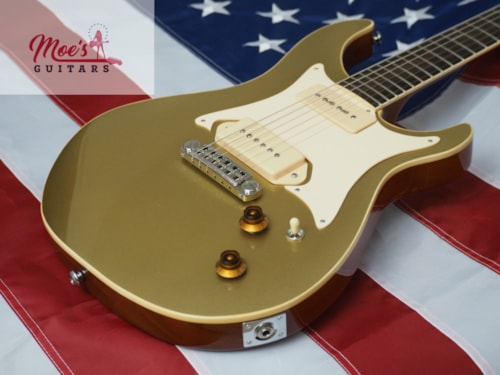 2009 Giffin T Deluxe Gold Top Video Demonstration of the Amalfitano P90's