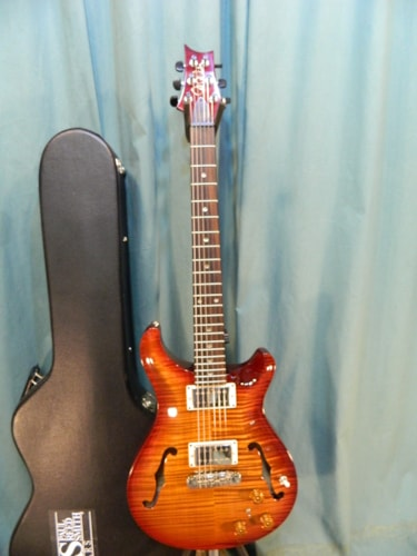 2009 PRS Hollow II Dark Cherry Sunburst, Excellent, Original Hard