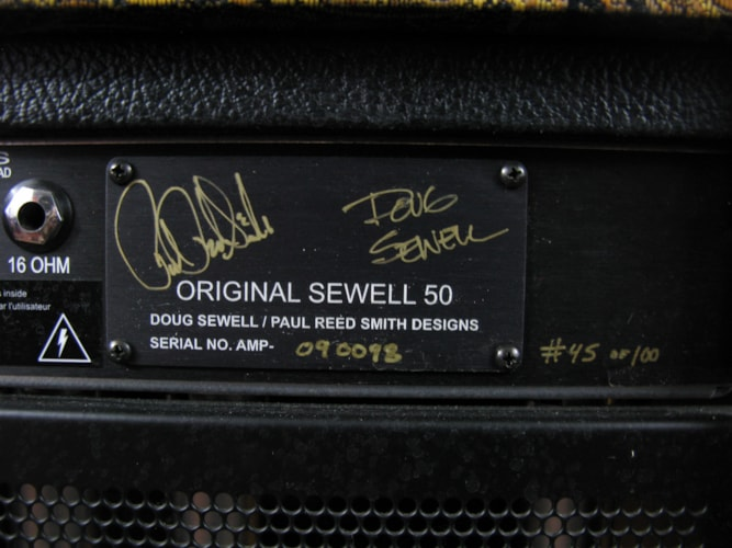 2009 PRS Paul Reed Smith Original Sewell 50 Head and Cabinet #45 of 50 Paisley, Near Mint