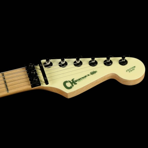 2010 Charvel Used 2010 Charvel Custom Shop San Dimas Electric Guitar Rising Sun Green with Gold Leaf Letters Excellent, $2,099.00