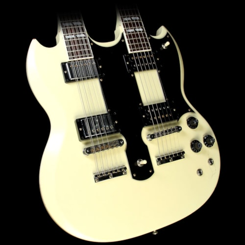 "2010 Gibson Custom Shop Used 2010 Gibson Custom Shop Don Felder ""Hotel California"" Double Neck Guitar Electric Guitar Aged White and Signed Excellent, $5,999.00"