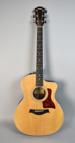 2010 Taylor 214ce Cutaway Electric Natural Finish Acoustic Flattop Guita Natural, Very Good