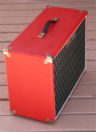 2010 Tone Tubby 2x10 Guitar Cabinet with Red Alnico Speakers Red, Excellent