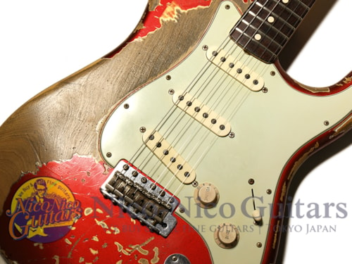 2011 Fender Custom Shop MBS 1964 Stratocaster Heavy Relic Master Built by Jason Smit Candy Apple Red