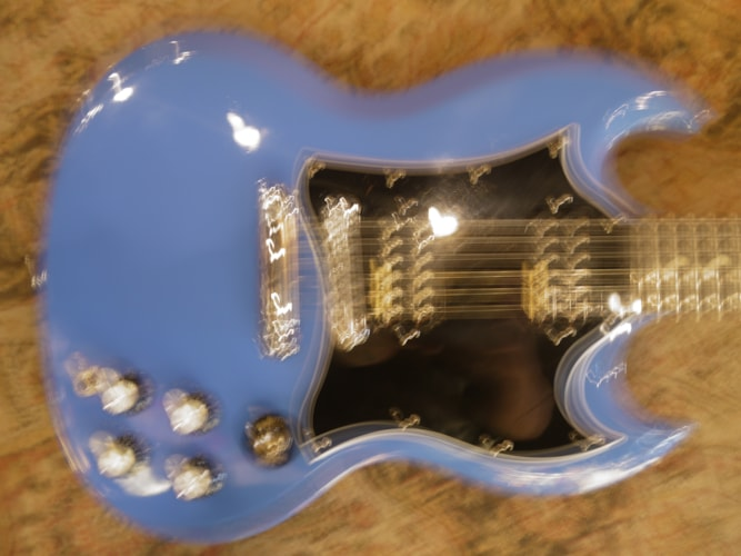 2011 Gibson SG Special Limited Renault Blue, Very Good, Soft, $699.00