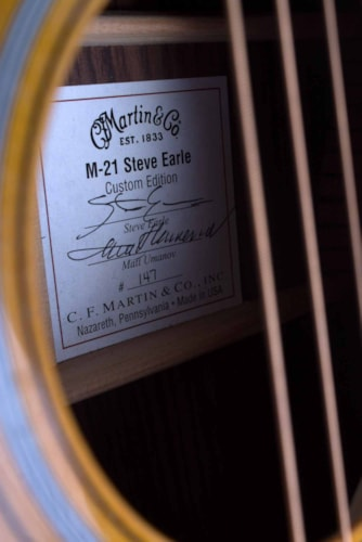 2011 Martin M-21 Steve Earle Amber Stunburst, Excellent, Original Hard, $3,995.00