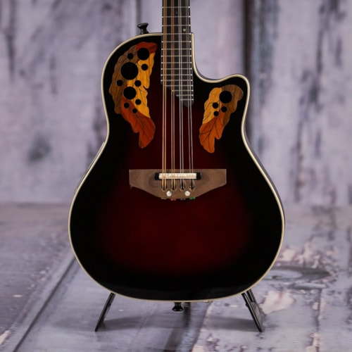 2011 Ovation MCS148 Acoustic Electric Mandolin, Ruby Redburst Very Good