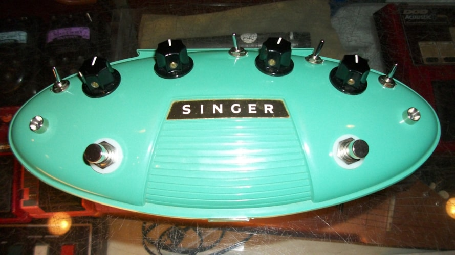 2011 Singer Button Hole Distortion Phaser Surf Green, Brand New, $299.00