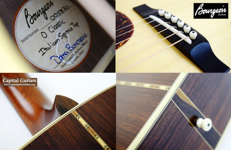 2012 Bourgeois 0 Classic Short Scale, Italian Spruce, EIR Natural, Near Mint, Original Hard, $3,399.00
