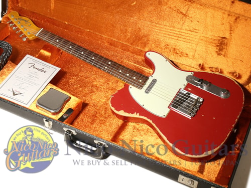 2012 Fender Custom Shop 1963 Telecaster Heavy Relic Dakota Red