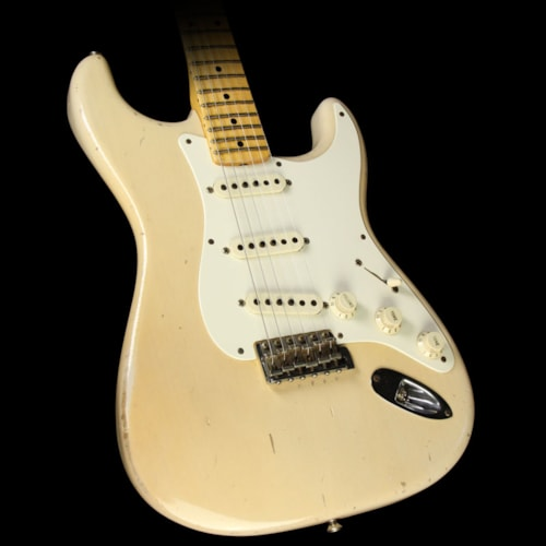 2012 Fender Custom Shop Used 2012 Fender Custom Shop Masterbuilt John Cruz Wild Wood 10 1957 Stratocaster Relic Electric Guitar Trans Blonde Excellent, $4,999.00