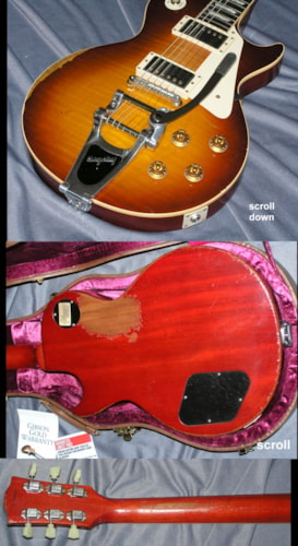 2012 Gibson Custom Shop Les Paul Standard Historic Tom Murphy Ultra (1959 Reissue) Sunburst Bigsby - R9, Mint, Original Hard