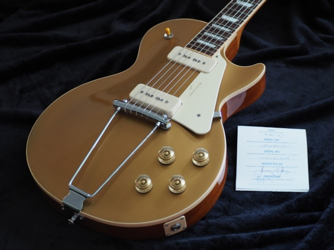 2012 Gibson Les Paul 60th Anniversay Limited+ (1952 Reissue) Gold Top, Excellent, Hard, $3,199.00