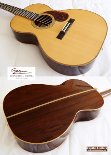 2012 Greven 000-12 Vintage Lutz Spruce, Brazilian Natural, Very Good, Hard, $5,499.00