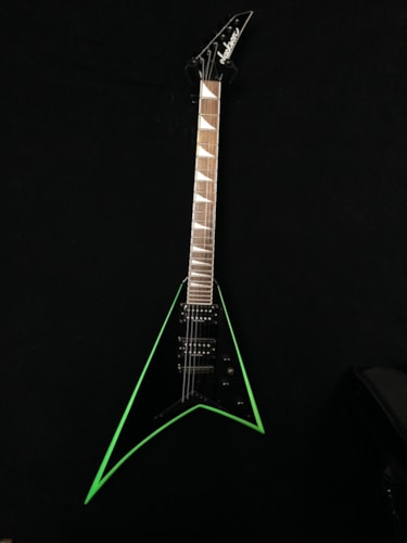 2012 Jackson RR24XT Black with Green Bevels, Very Good