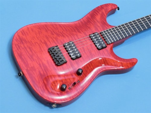 2012 Marchione Carved Top Electric Trans Red, Near Mint