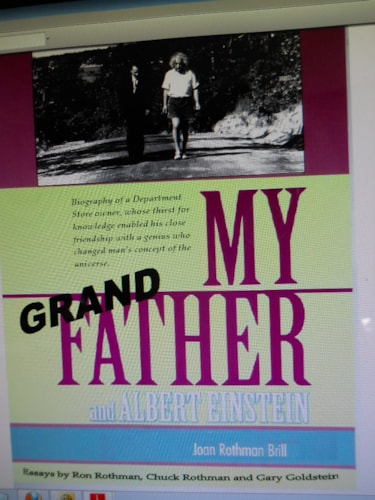 "2012 ""My Grandfather and Albert Einstein by Ron Rothman & Joan Brill ....a unique story...., Brand New"
