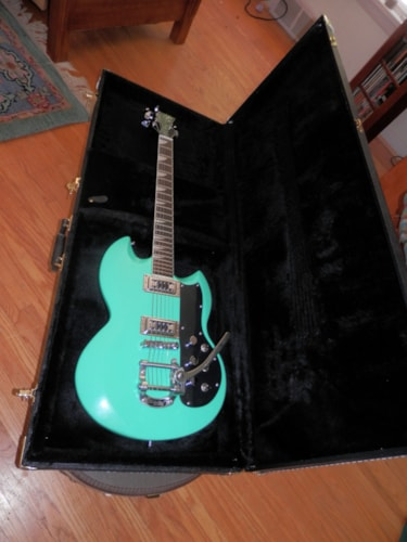 2013 EASTWOOD 'Gretsch®'  Astrojet Seafoam green, Brand New, Original Hard