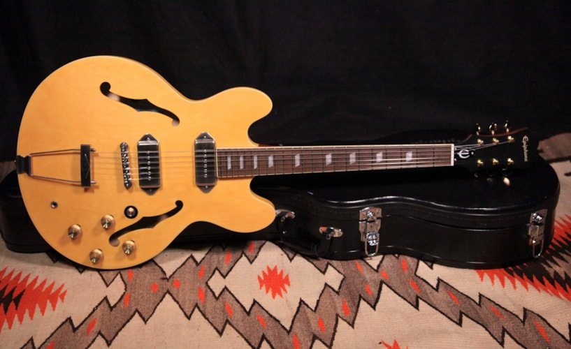 2013 Epiphone Casino Inspired By John Lennon Natural, Excellent, Hard, $995.00