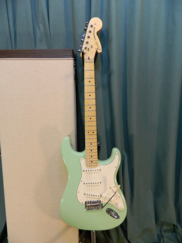 2013 Fender American Special Stratocaster Surf Green, Very Good, Hard, $799.00
