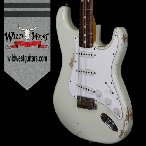 2013 Fender Custom Shop 1960 Stratocaster Heavy Relic Rosewood Slab Board (1960 Reissue) Olympic White, Brand New, Original Hard, $3,299.00