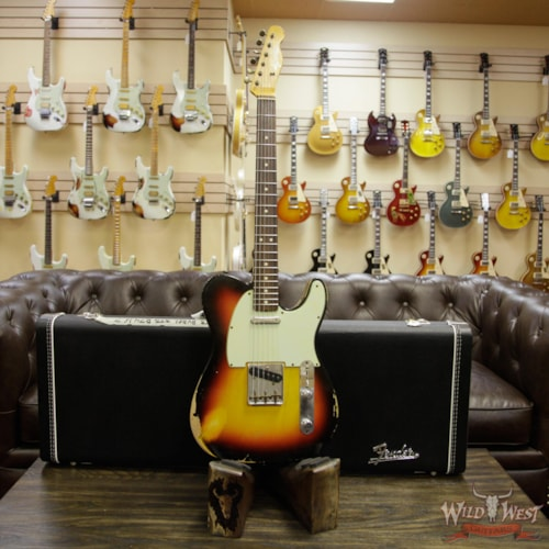 2013 Fender Custom Shop 1963 Telecaster Heavy Relic Rosewood Fingerboard (1963 Reissue) 3 Tone Sunburst, Brand New, Original Hard