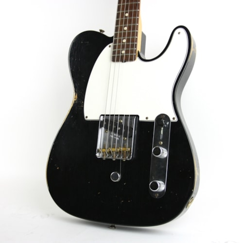 B Bender Guitar >> 2013 Fender Custom Shop 59 Esquire Relic B Bender Black Guitars