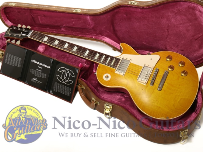 "2013 Gibson Custom Shop Collector's Choice #15 Greg Martin 1958 Les Paul ""8-6756"" Double Dirty Lemon, Excellent, Original Hard, Call For Price!"