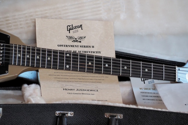 2013 Gibson Flying V Government Tan, Excellent, Hard, $1,195.00