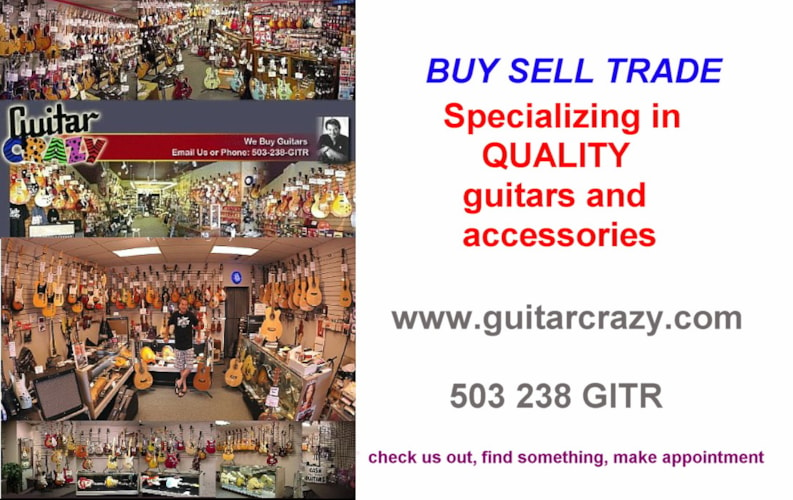 2013 Guitar Crazy Buy Sell Trade art Many, Brand New, Call For Price!